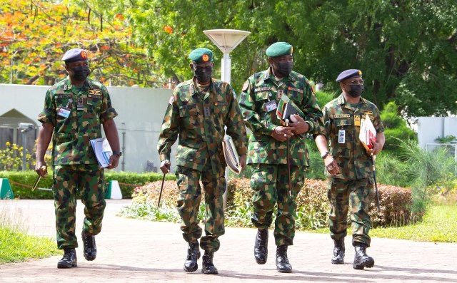 President Buhari holds security meeting with Service chiefs (photos)