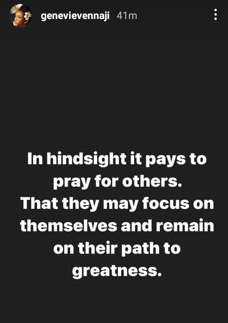 """""""Your path to greatness is often altered by those who have derailed from theirs"""" - Nollywood actress, Genevieve Nnaji talks about the importance of prayer"""