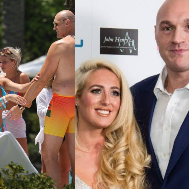Tyson Fury?s pregnant wife, Paris hides wedding ring finger days after photos emerged of ladies rubbing oil on Fury