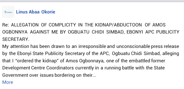 Former Ebonyi lawmaker denies involvement in abduction and torture of community leader
