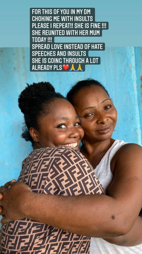 Missing UNICROSS student, Priscilla Ojong, reunites with her mother (photos/Video)