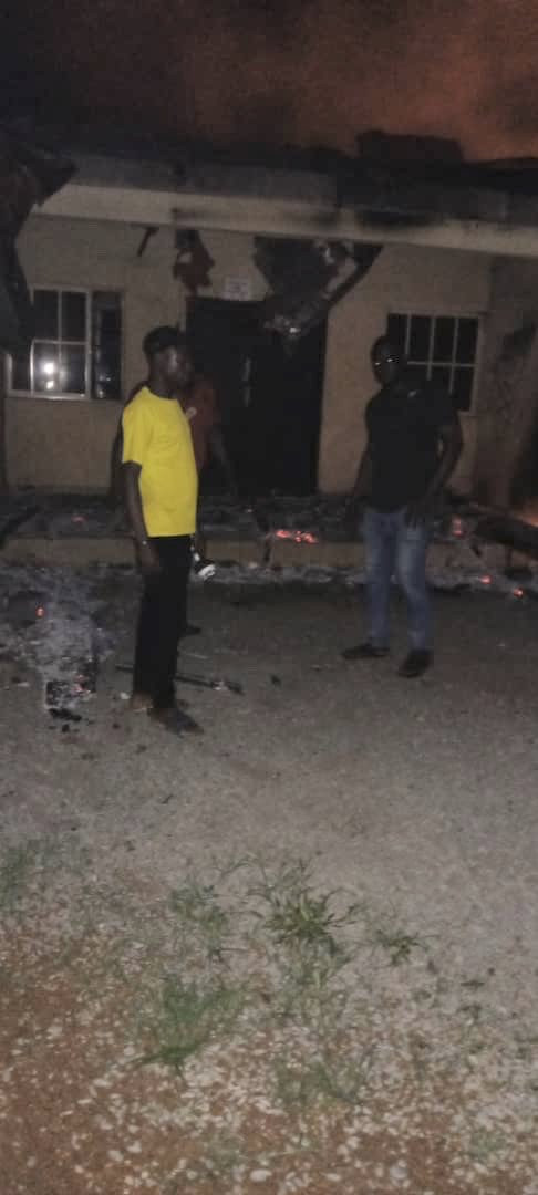 Two INEC offices razed in Ebonyi (video and photos)