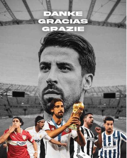 Germany World Cup winner, Sami Khedira announces retirement from football at 34