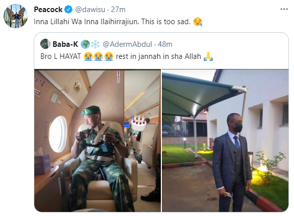 Photos of the ADC to the late Chief of Army Staff, Ibrahim Attahiru, who also perished in the ill-fated military aircraft