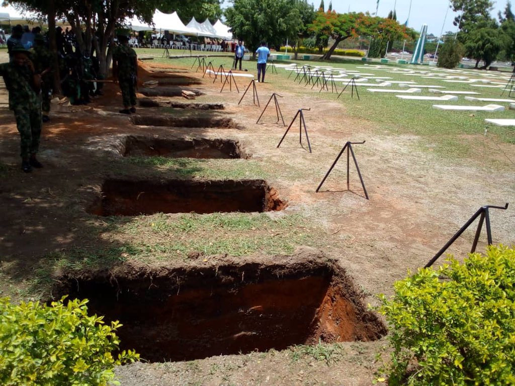 Photos/Videos from the ongoing funeral rites for the Chief of Army Staff and other military officers killed in ill-fated military aircraft crash