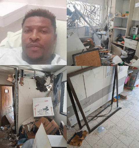 Retired Nigerian striker, Ibezito Ogbonna, survives after his house in Israel was hit by a rocket from Gaza