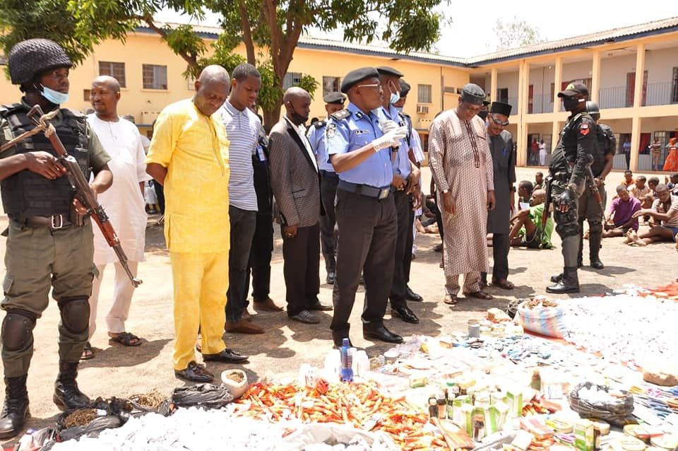 Police arrest 52 suspects, recover arms, ammunition and illicit drugs worth N3m in Adamawa