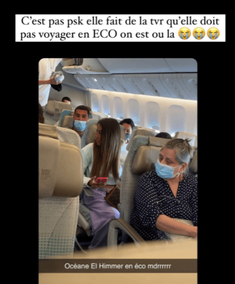 Dubai model exposed by co-passengers after she posed in business class cabin and posted photos online then returned to her seat in economy before takeoff