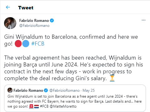 Liverpool star, Georginio Wijnaldum agrees?3-year deal?to join Barcelona?until 2024