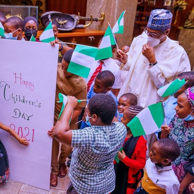President Buhari celebrates Children