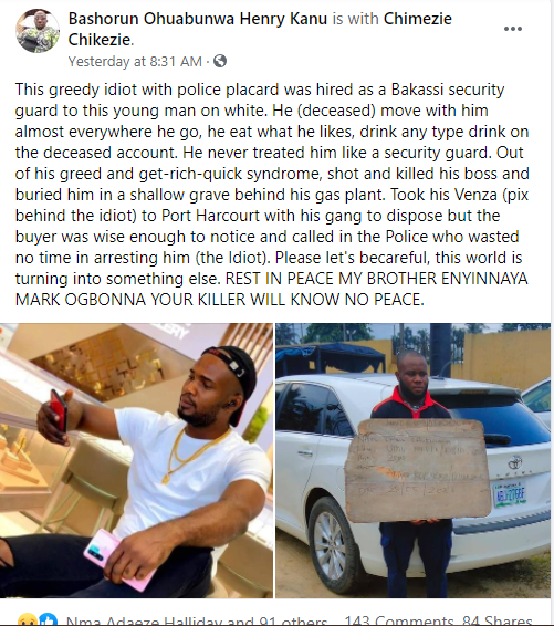 Photos of the US-based man killed by Abia vigilante he hired to secure him and his project