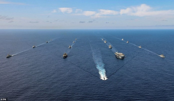 NATO squares up to Russia as UK, US and 9 other nations deploy warships and fighter jets in Atlantic in massive show of strength (Photos)
