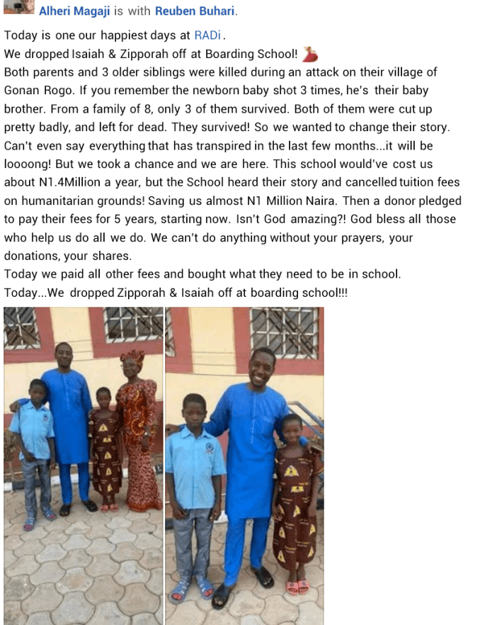 Three children survive after bandits allegedly killed their parents and 3 older siblings in Kaduna