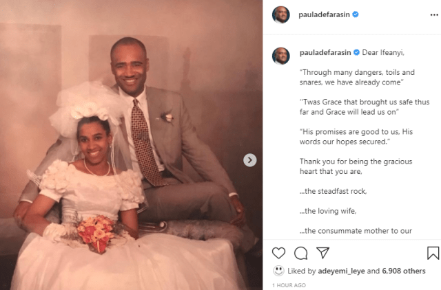 Pastor Paul Adefarasin praises wife, Ifeanyi as they celebrate 26th wedding anniversary together