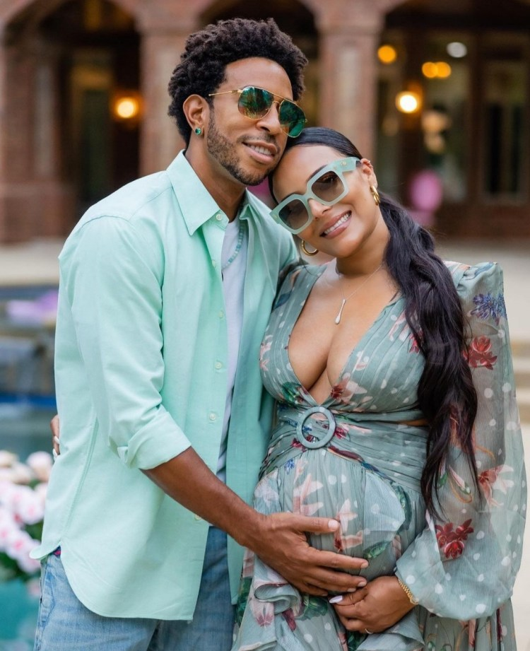 Ludacris and wife Eudoxie pictured at suprise baby shower thrown by friends (photos)