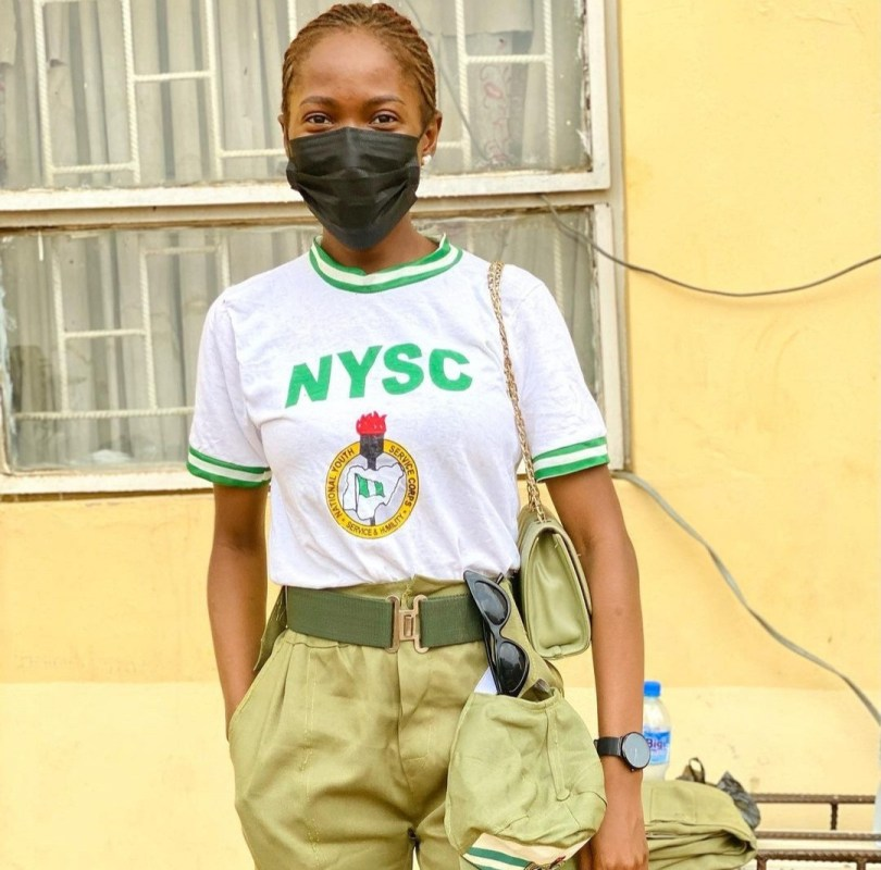 Jemima Osunde shares photos in NYSC uniform as she begins service