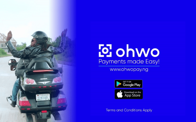 A Must Watch: Introducing Ohwo App, Cobhams flaunts power bike skills, boasts of Ohwo's disruption of payment systems in Nigeria