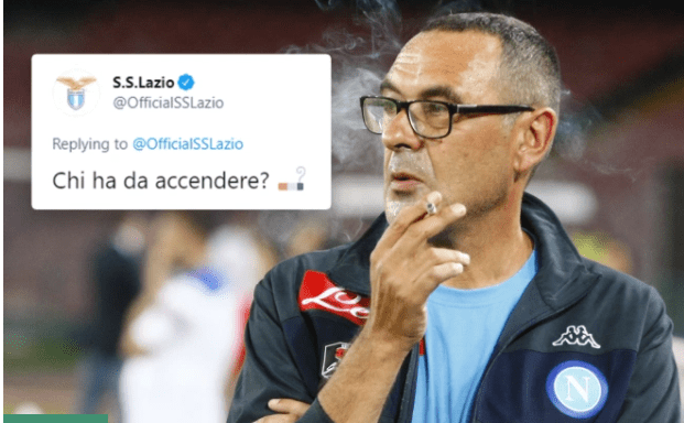 Former Chelsea coach, Maurizio Sarri confirmed as new Lazio manager with funny cigarette tweet about his chain-smoking habit