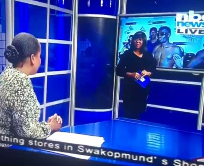 Namibian broadcaster confronts colleague on live TV not knowing they were already live