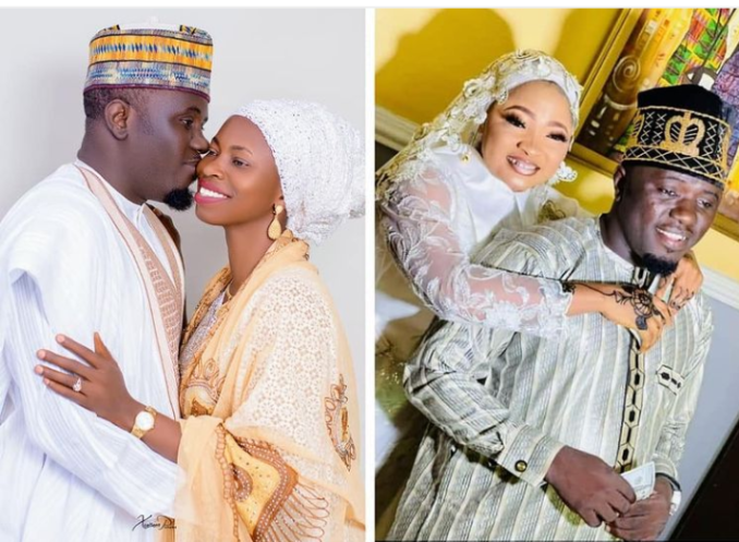 I promise you both to be the best husband - Nigerian Islamic singer, Aponle Anobi says as he shares photos with his two wives