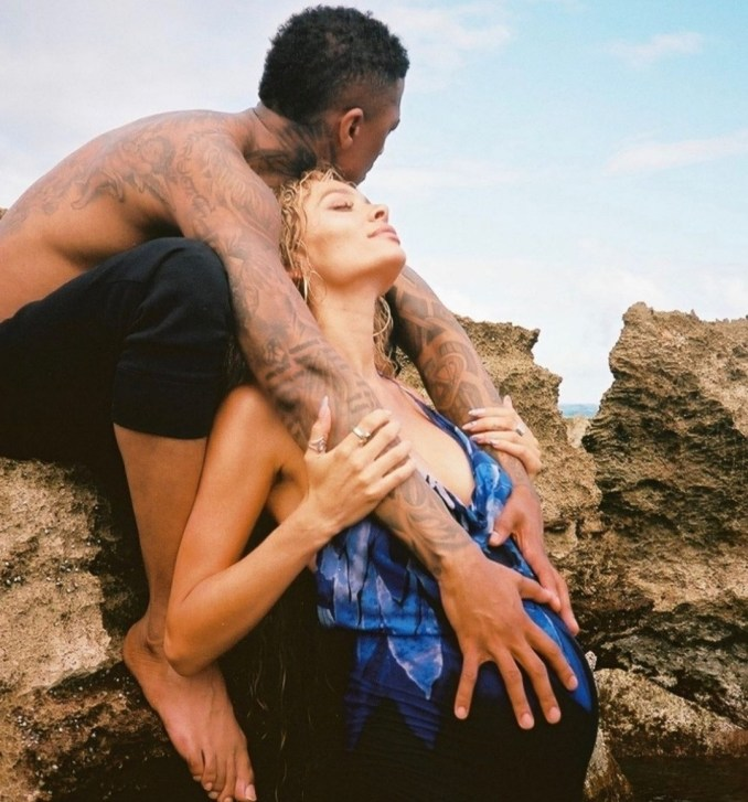 Alyssa Scott confirms she's expecting baby with Nick Cannon by releasing maternity photo she took with him few days after he welcomed twin babies with Abby De La Rosa