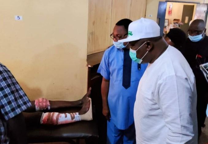 Enugu Cop's Shooting: Governor Ugwuanyi visits survivors in hospital