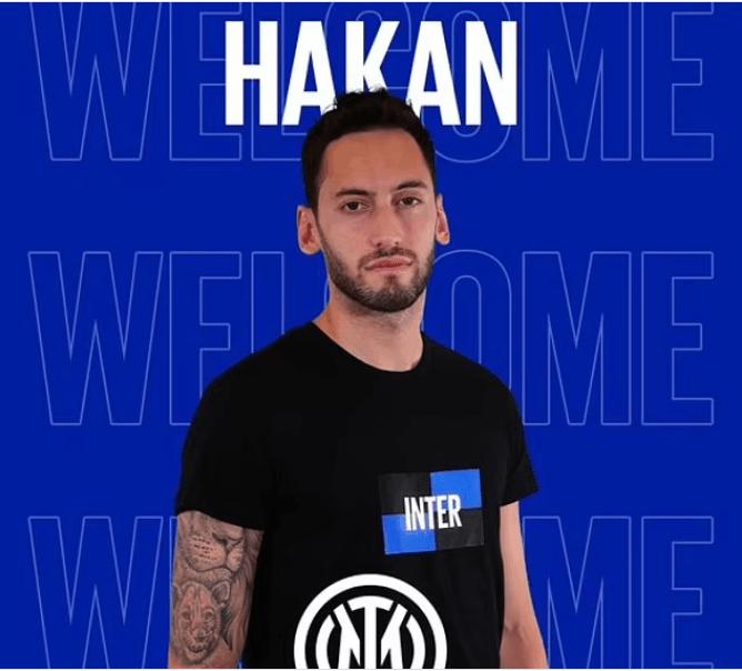 AC Milan midfielder Hakan Calhanoglu completes shock move to arch-rivals Inter Milan