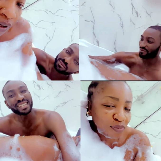 Actress Anita Joseph shares videos of herself and her husband enjoying a private moment in a bathtub