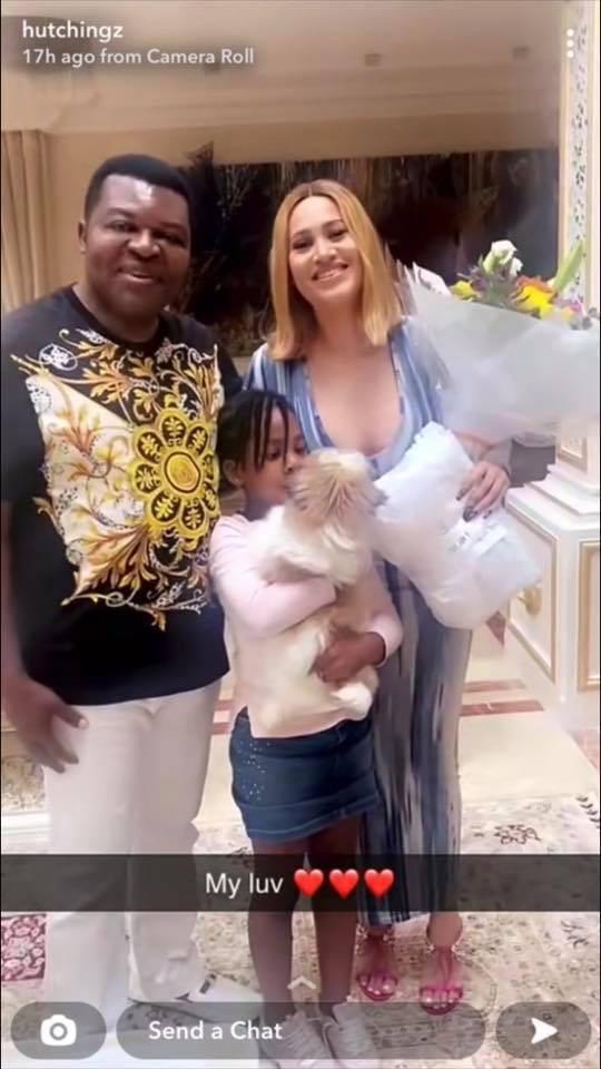 Caroline Danjuma and her ex-husband Musa Danjuma get cozy and blow kisses at each other at her birthday dinner