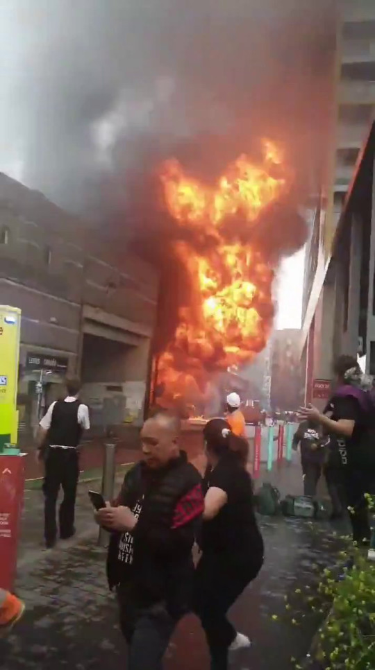 Huge fireball explodes in garage under Elephant and Castle station in London (Video/Photos)