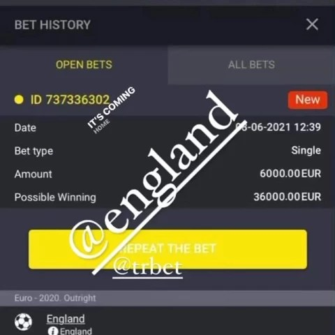 Former boxing champion, Derek Chisora shows off his ?6,000 to win ?36,000 bet on England winning Euro 2020