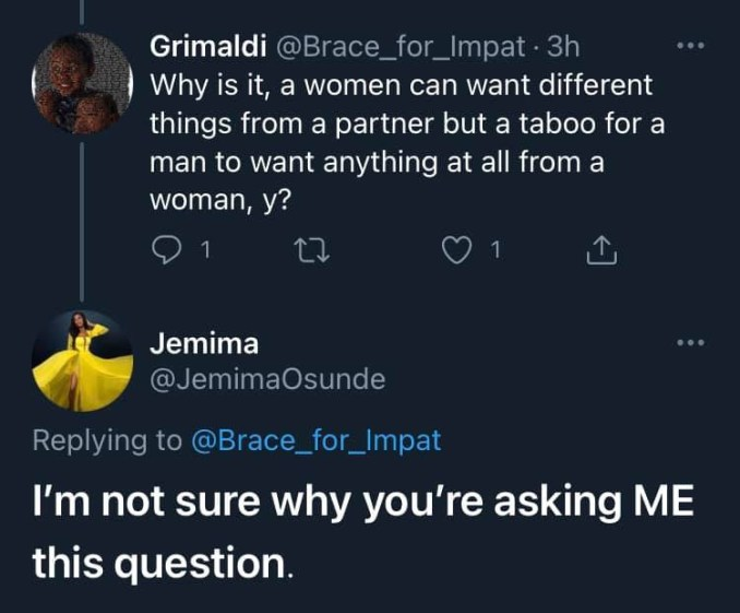 Actress Jemima Osunde tackled for saying she wouldn?t cook when she gets married 6