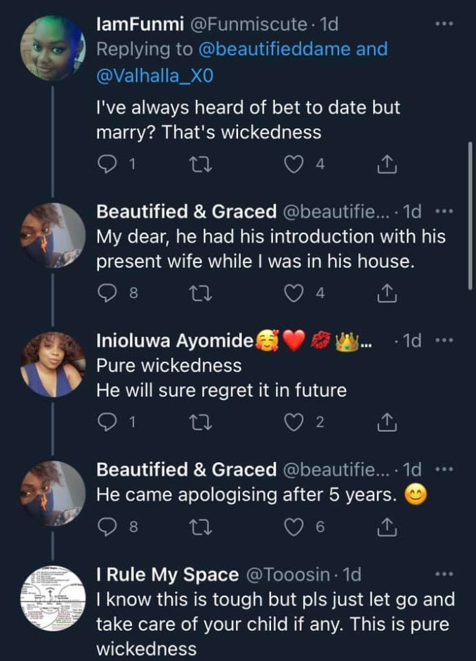 Lady narrates how her ex-husband opened up on not being in love with her but only married her over a bet 2