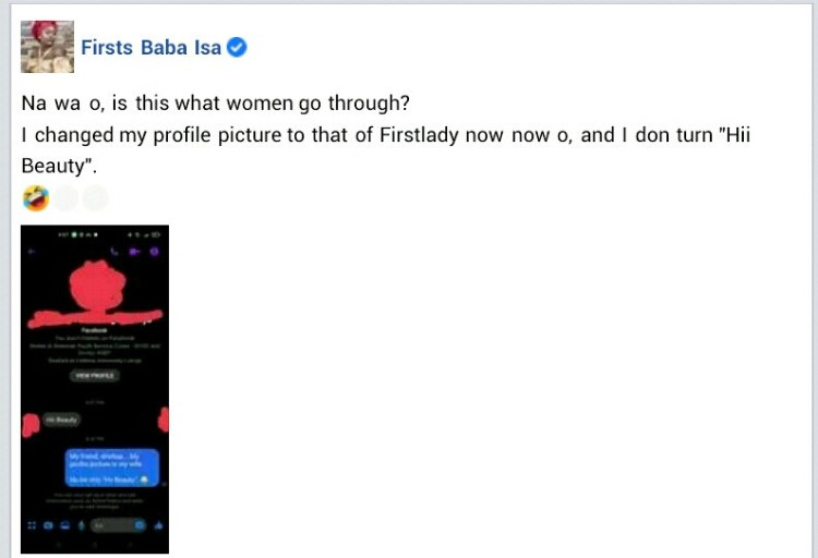 """""""Is this what women go through? - Nigerian male lawyer reacts as man slides into his DM after he changed his Facebook profile photo to that of his wife"""