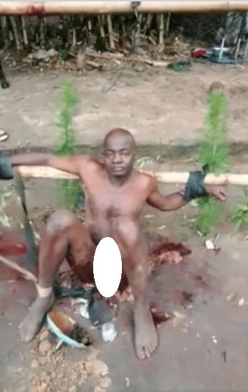 Horrific video shows man