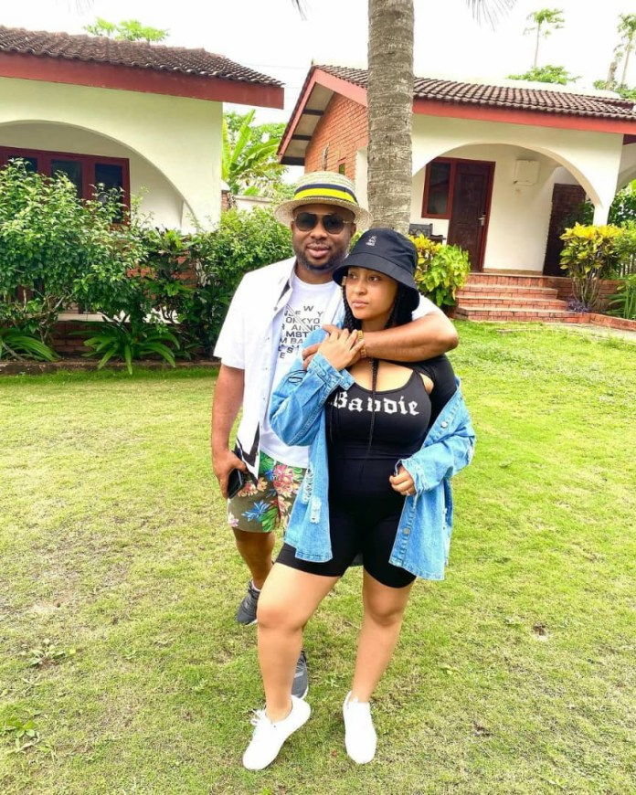 Actress Rosy Meurer and hubby, Olakunle Churchill, step out with their son, King Churchill Jnr (photos)