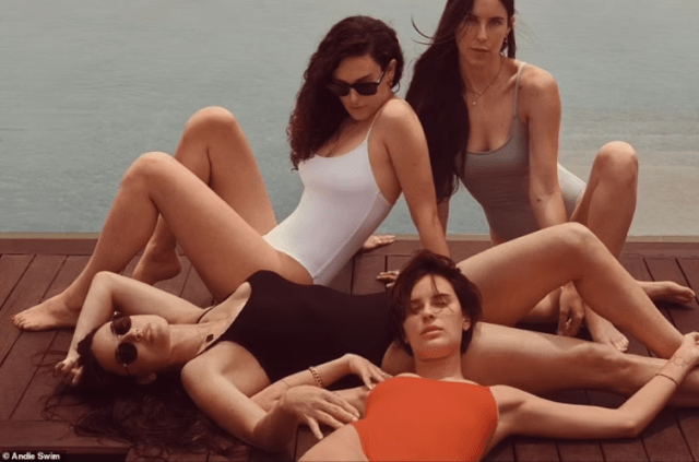 Actress, Demi Moore sizzles alongside her 3 daughters in swimwear photos