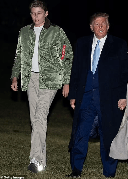 Barron Trump, 15, towers over his mother Melania Trump in new photos as he stands at 6