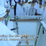 [Images] Body of Late Prophet T.B Joshua laid to relaxation