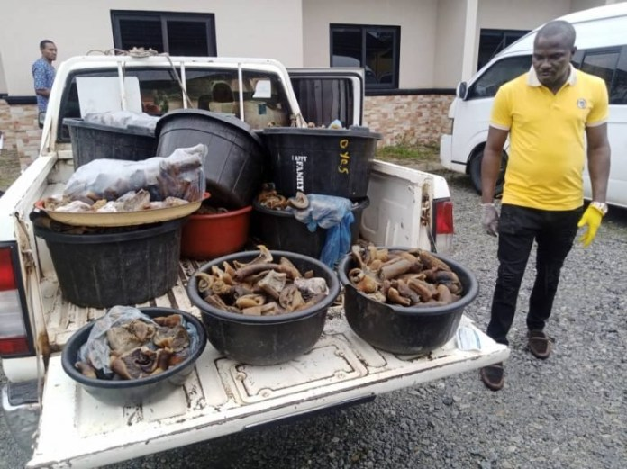 Four women arrested for selling donkey meat to unsuspecting buyers in Edo (photos)
