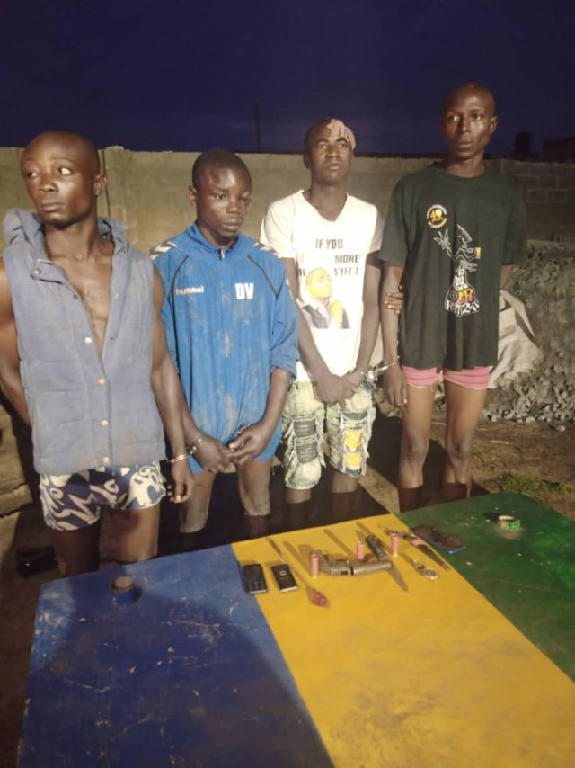 Four suspected cultists arrested during supremacy battle in Ogun (photo)