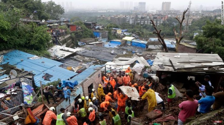 At least 31 people are killed following torrential rainfall in India