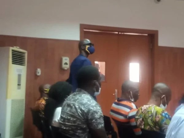 Baba Ijesha arrives court as his trial for the allegedly sexual assault of comedienne, Princess