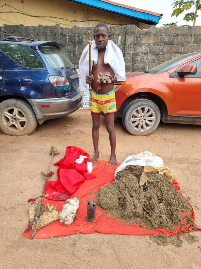 IPOB/ESN native doctor arrested in Imo (photos)