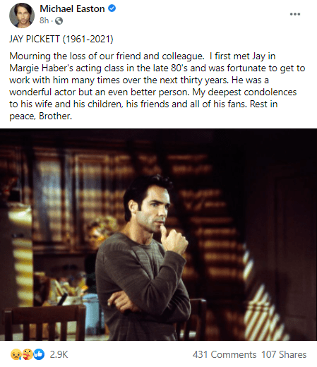 Actor Jay Pickett dies on movie set