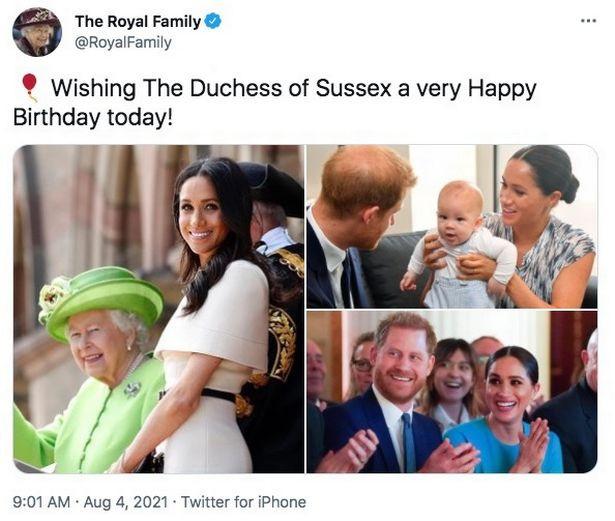Members of the Royal Family wish Meghan Markle happy birthday via their respective accounts