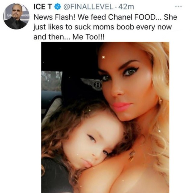 Ice T speaks on his daughter,? Chanel, still breastfeeding at 5