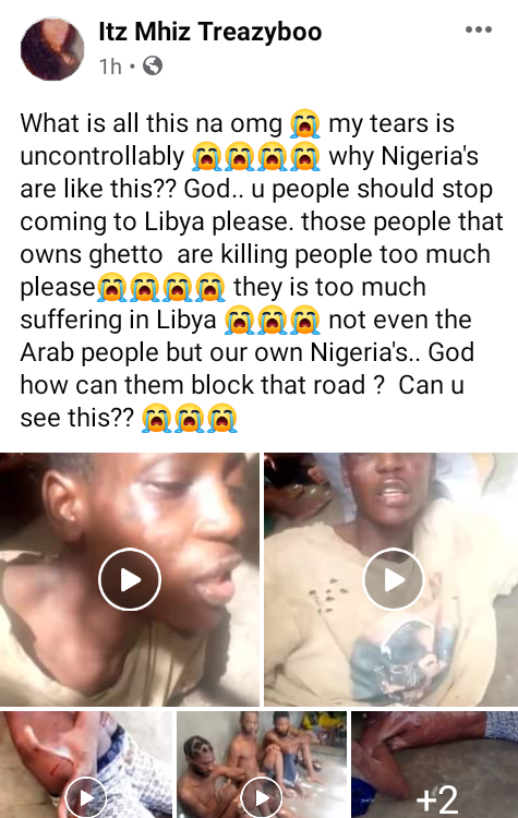 Shocking videos purportedly show Nigerian migrants being tortured by suspected human traffickers in Libya