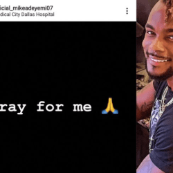 Actor Mike Adeyemi asks people to pray for him as he visits the hospital