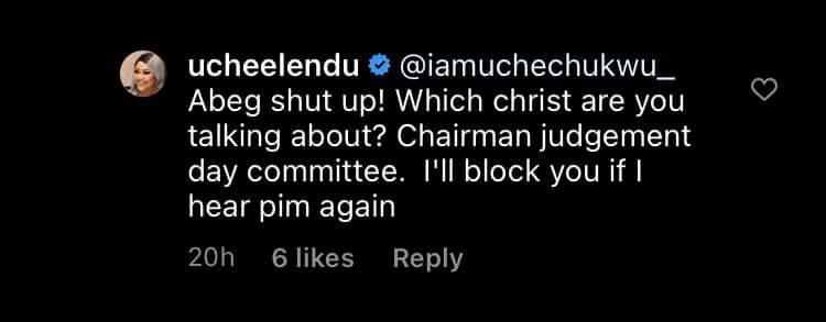 Between Uche Elendu and a troll who told she can